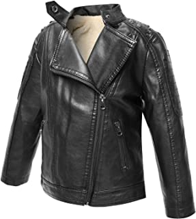 The Twins Dream Boys Leather Jacket Fall Toddler Kids Zip Coats New Motorcycle Faux Leather