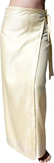 Brand Full Star Line Motif Thailand Silk Wrap Skirt Thai Formal Sarong