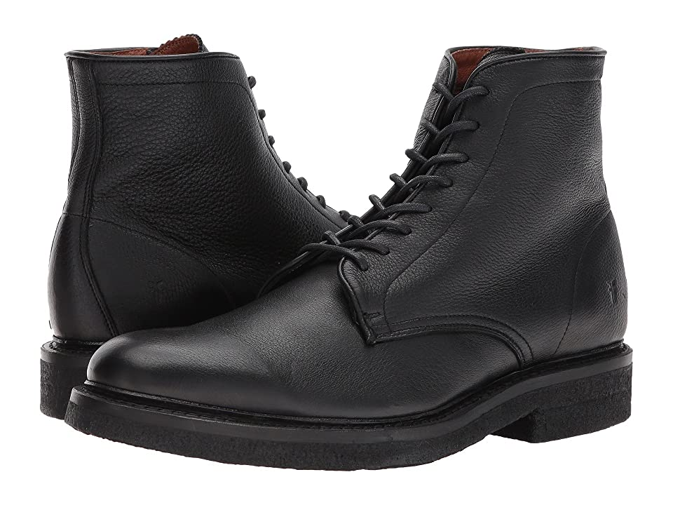 Frye Country Crepe Lace-Up (Black Deer Skin Leather) Men