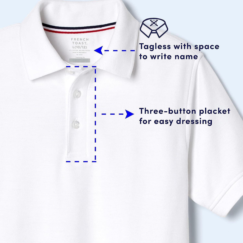 French Toast Boys' Short Sleeve Pique Polo Shirt