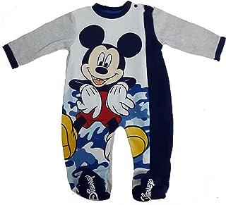 87dffef68d tutina con piedini TOPOLINO pigiamone caldo cotone con cerniera laterale  neonato disney WD100980 (24 mesi