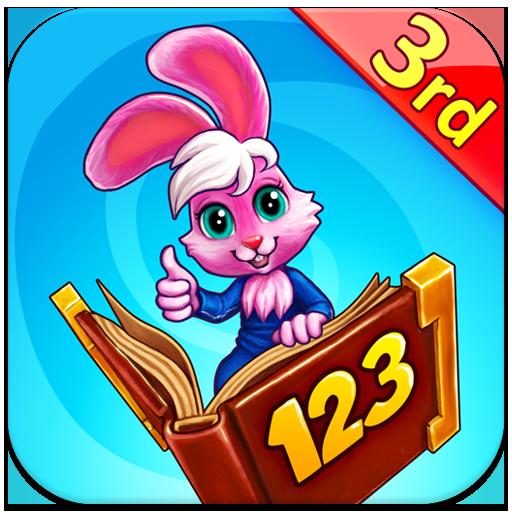 Wonder Bunny: Carrera Matemática - Completa Aplicación de 3º curso para aprender los números, la suma, la resta, la multiplicación, la división, las fracciones y las ecuacioness