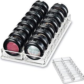 Soporte organizador acrílico para sombras de ojos & productos de belleza para 16tarros | byAlegory (transparente)