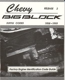 Chevy BIG Block Factory Engine Identification Code Guide 1958-99 (MSA-1)