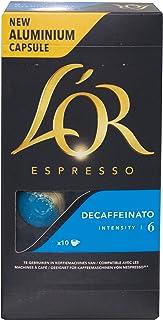 L'OR Espresso Coffee Decaffeinato Intensity 6 - Nespresso®* Compatible Aluminium Coffee Capsules - Pack of 10 capsules (10 drinks)