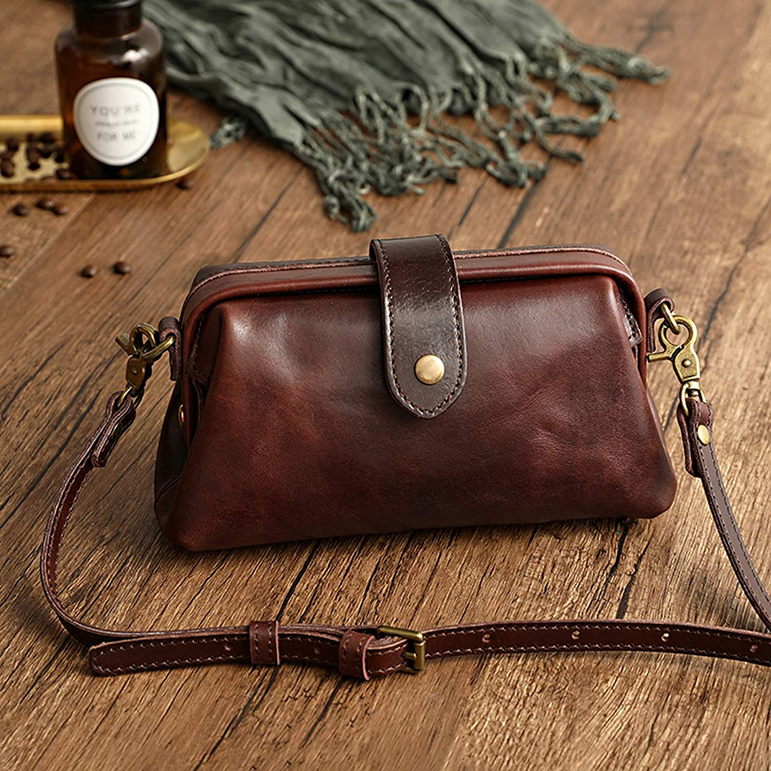 Premium Leather Retro Handmade Bag Max 72% OFF Crossboy Small Women for 2021 spring and summer new