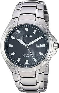 Men's Eco-Drive Quartz Titanium Strap, Silver, 25.5 Casual Watch (Model: BM7431-51E)