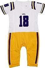 FAST ASLEEP LSU Tigers Away Baby NCAA Uniform Romper New