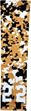 Sports Farm - Custom Number Gold Black White Digital Camo Arm Sleeve