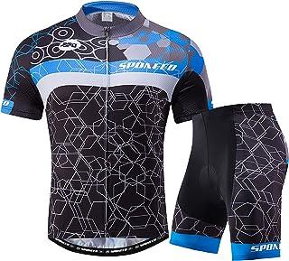 sponeed Men Cycling Outfit Set MTB Bicycle Jersey Road Biker Shorts Trianthlon Cyclwear Shirts