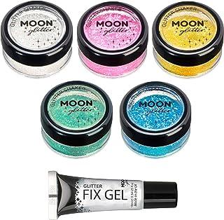 Moon Glitter Strooier met glinsterende glitter, 100% cosmetische glitter voor gezicht, lichaam, nagels, haren en lippen, 5...