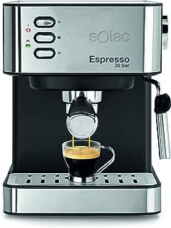 SOLAC CE4481-ESPRESSO - Máquina de café en cápsulas de café molido CE4481, 20 bar, 2 en 1, acero inoxidable, negro