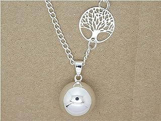 Bola de Grossesse Personnalisable Lisse Argent Plaqué arbre de vie cadeau Future maman Grossesse F de Bm créations