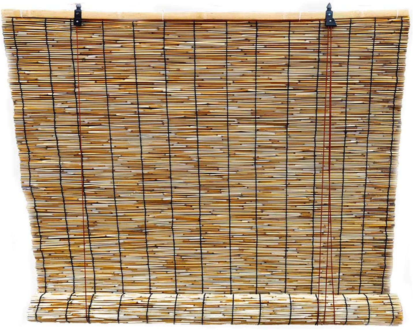 HJRD Natural Reed Curtain Vintage Roller Limited time cheap sale Bamboo Curtains Max 61% OFF Blind