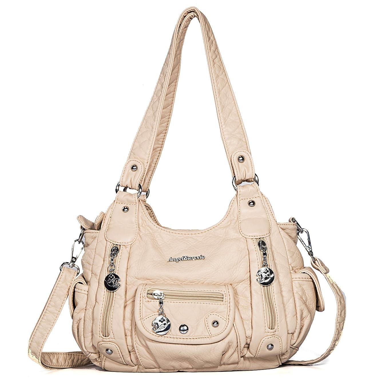 Handbag Hobo Women Bag Roomy Multiple Pockets Street ladies' Shoulder Bag Fashion PU Tote Bag