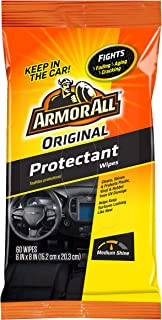 Armor All Car Interior Cleaner Wipes for Dirt & Dust - Protectant for Cars & Truck & Motorcycle, 60 Count, 19265