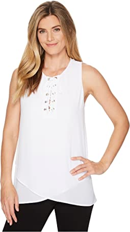 Karen Kane Asymmetric Lace-Up Tank
