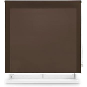 Blindecor Ara - Estor enrollable translúcido liso, Gris Plata, 120 x 250 cm (ancho x alto): Amazon.es: Hogar