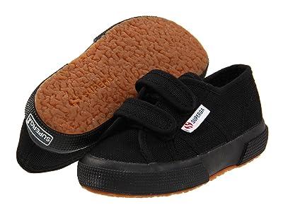 Superga Kids 2750 JVEL Classic (Toddler/Little Kid) (Full Black) Girls Shoes