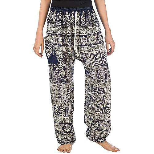 46516dbf65b Lofbaz Women s Floral Eye Boho Harem Pants Bohemain hipster One Size