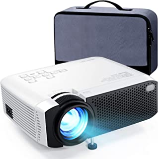 "Mini Projector, APEMAN 5000L Brightness 180"" Display Projector [Carry Case Included], Support 1080P, 55,000 Hours LED Life..."