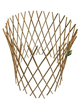 Master Garden Products Peeled Willow Circular Lattice Fence, 24 by 36-Inch, Light Mahogany Color