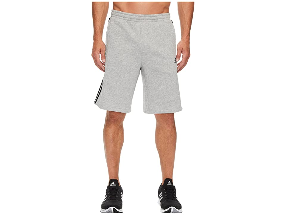 adidas Essentials Cotton Shorts (Medium Grey Heather/Black) Men