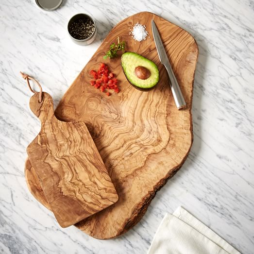 Olive Wood Rustic Cutting Board | west elm