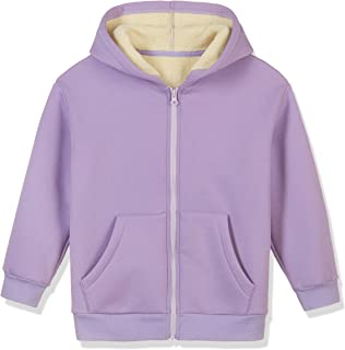 Kid Naion Kids Long Sleeve Zip-up Faux Sherpa Sweatshirt Cozy Fleece Pullover for Boys or Girls