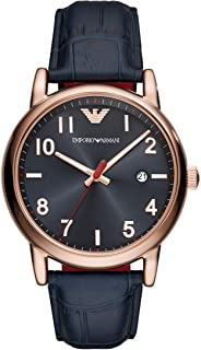 Emporio Armani Classic 3 Hand Stainless Steel Watch with Quartz Movement and Date