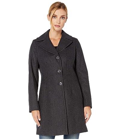 MICHAEL Michael Kors Wrap Belted Wool M121950TZ (Charcoal) Women
