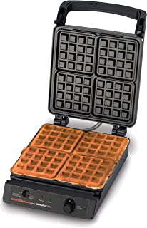 Chef'sChoice 854 Classic WafflePro Nonstick Waffle Maker, Has Taste and Texture Select Option with Temperature Control Make Delicious Waffles for Breakfast Lunch or Dinner, 4-Square, Black (Renewed)