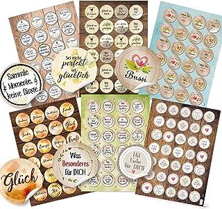 Logbuch-Verlag Sprüche Aufkleber SET 6 x 24 Sticker Motivat