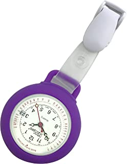 Nurse Watch - Clip-on Silicone (Infection Control) with Date - Violet