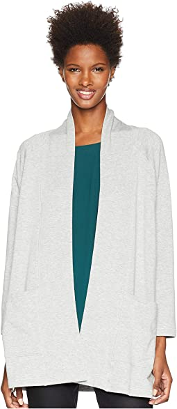 Tencel Organic Cotton Fleece Kimono Long Cardigan
