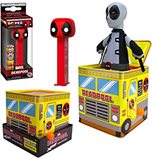 DeadBox Loot Set Marvel Deadpool X-Force Jack in The Box! Tin Exclusive Bundled with Character Loot Marvel Pez Head 2 Items