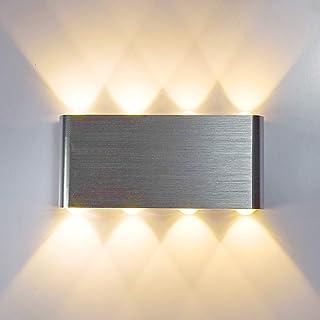 Glighone Lampe Murale LED 8w Moderne Aluminium LED Applique Murale Interieur Éclairage Mural Applique Murale Lumières pour...