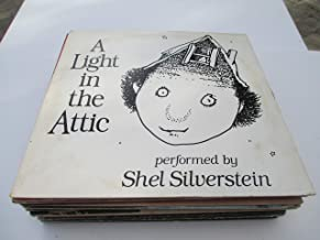 A LIGHT IN THE ATTIC, PERFORMED BY SHEL SILVERSTEIN, RARE GOLD LABEL PROMO VINYL RECORD