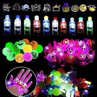 Halloween Party gunsten voor kinderen - 52 STKS Halloween decoraties LED knipperende ringen voor kinderen Halloween Party ...