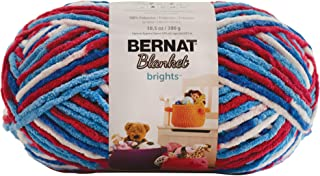 bernat blanket yarn red white and boom