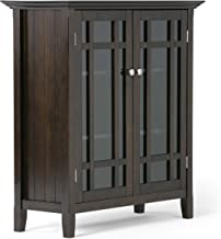 solid wood glass door cabinet