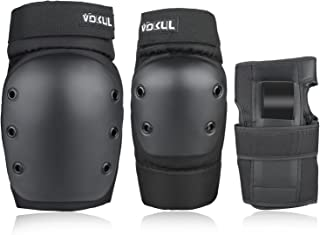 VOKUL 3 in 1 Protective Gear Set, Kids Youths Adults Safety Gear Protector Guards Knee Pads Elbow Pads Wrist Guards for Skating Skateboarding Cycling Inline Skate and Other Sports Activities