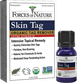 Forces Of Nature -Natural, organic skin Tag Extra Strength Remover (11ml) Non Gmo, No Harmful Chemicals -Safe, Pain & Scar...