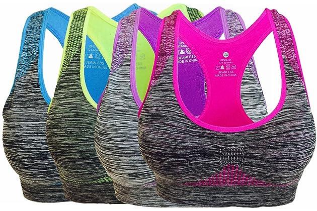 79241892357b2 Vermilion Bird Women s Seamless Sports Bra High Impact Pocket Yoga Bras