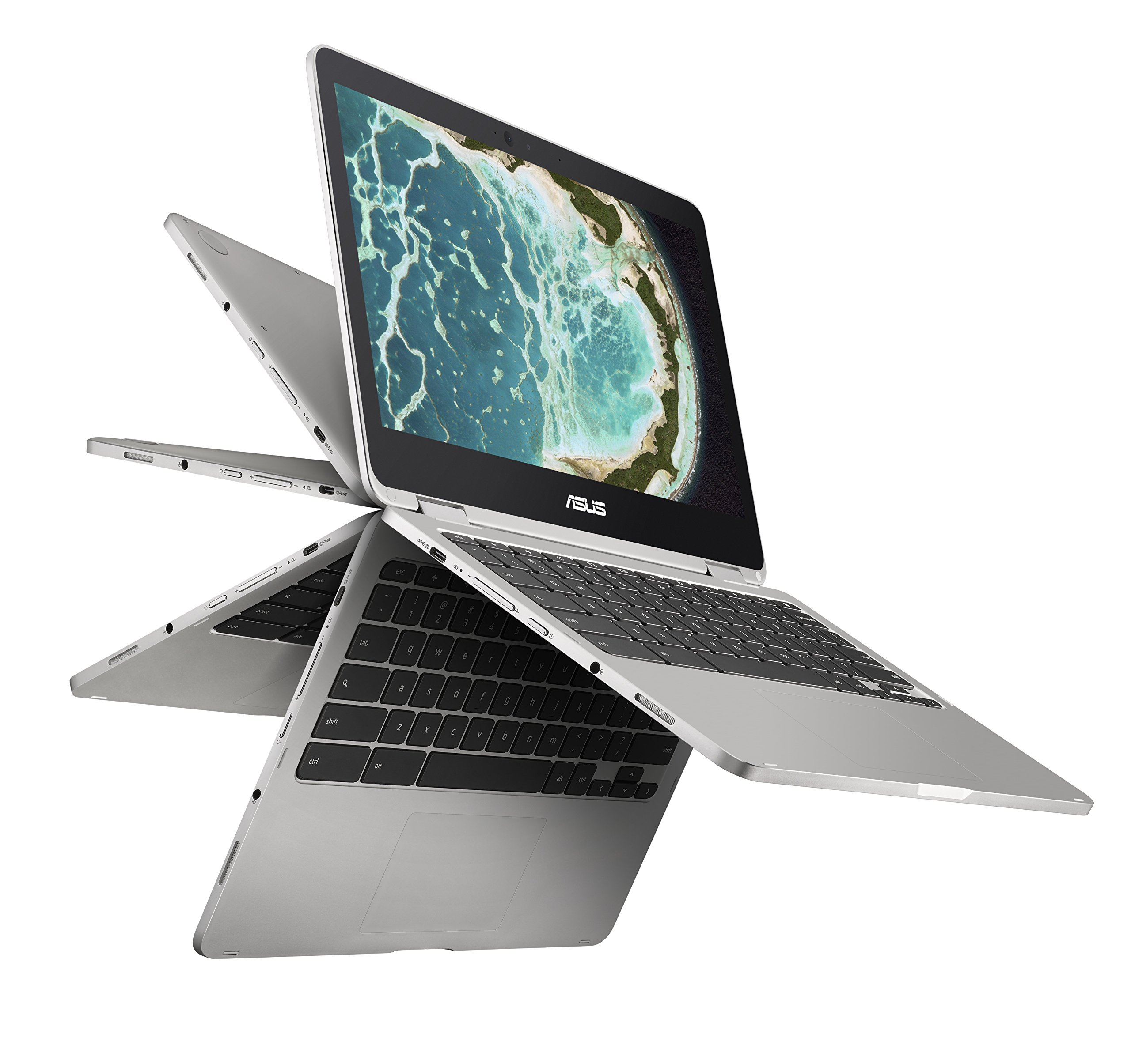 ASUS C302CA-DHM4フリップChromebookコンピュータ12.5インチタッチスクリーン回転式ChromebookノートブックIntel Core m3、4GB RAM、64GBフラッシュ、オールメタル本体、USBタイプC、Corning Gorillaガラス、Chrome OS