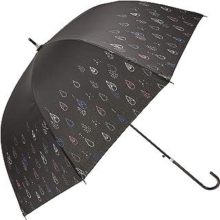 マーブドロップ 長傘 ラメ&ドーム傘 60cm レインドロップ ブラック ジャンプ 雨傘 FS-2002