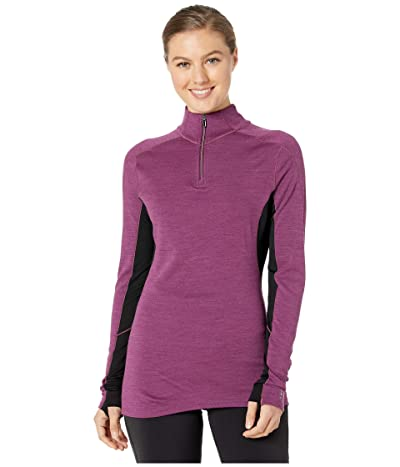 Smartwool Merino Sport 250 Long Sleeve 1/4 Zip (Sangria Heather) Women