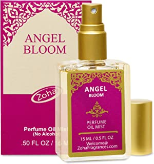 Angel Bloom Perfume Oil Mist (No Alcohol) - Essential Oils and Perfumes for Women and Men by Zoha Fragrances, 15 ml / 0.50 fl Oz