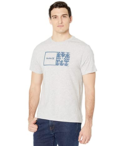 Hurley Natural HD Short Sleeve Graphic T-Shirt (Light Heather Grey) Men