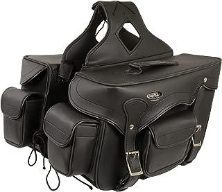 Milwaukee Leather SH66602-BLK-PCS Black Plain Saddle Bag (12X9X6X17)